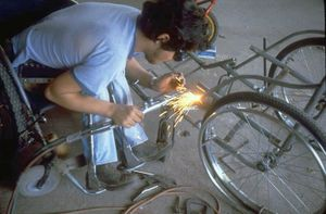 disabled worker welding