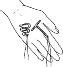 una ilustración de 2 tipos de DIU.