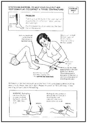 a sample instruction sheet.
