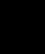 Vista de frente de una silla de ruedas con flechas apuntando a lo ancho y las barras cruzadas abajo del asiento.