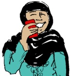 Woman talking on a cell phone and smiling