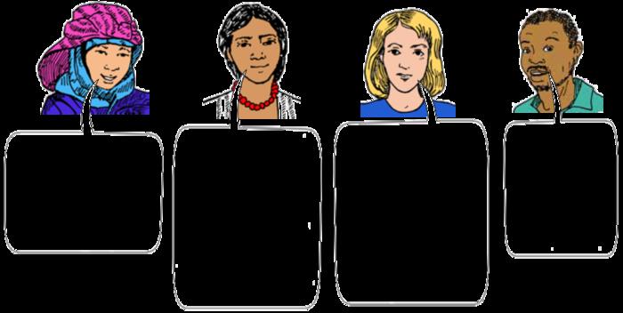 four people speaking.