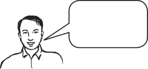 Mwanaume akiongea